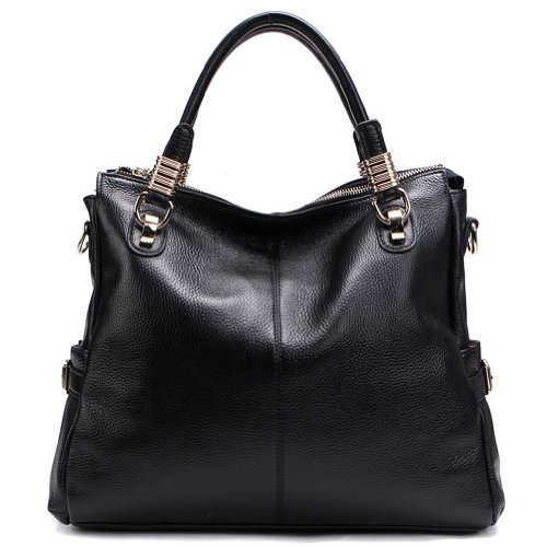 Dissia Massclusive Genuine Leather Shoulder Bag,Handbag,Black, Bags Central