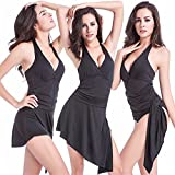 ZegoCaCa Womens Plus Size tankini Dress Swimwear One Piece Swimsuit Bikini