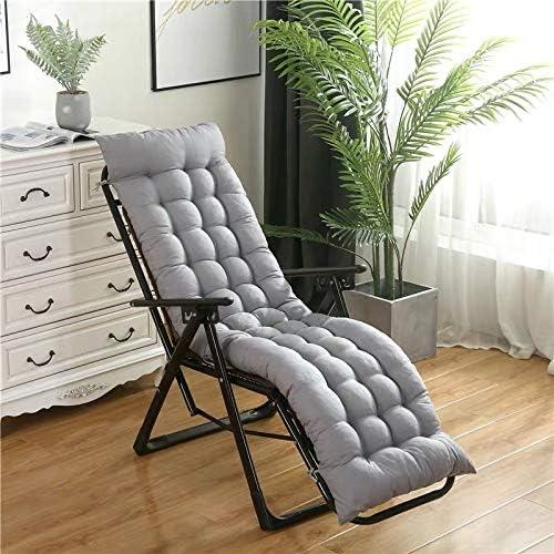 Colchonetas de sol silla, cubierta gruesa de color gris claro atractivo portátil de reemplazo de la personalidad terraza del jardín sillón de asiento, la cubierta superior antideslizante y 6 pares de: Amazon.es:
