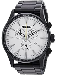Mens Sentry Chrono Quartz Stainless Steel Casual Watch, Color:Black (Model · NIXON