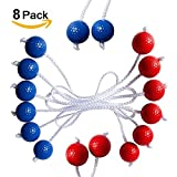 Ladder Toss Ball Replacement Set Bola Ladder Golf Toss Game With Real Golf Balls 8 Pack