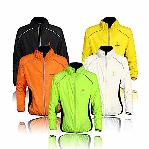 Radfahr-/Lauf-Jacke; Sportbekleidung; zum Laufen geeignet; langärmelig; schützt vor Wind und Regen; schnelltrocknend; winddicht; für Frühling / Herbst geeignet; zum Fahrradfahren; in 5Farben erhältlich L grün - grün