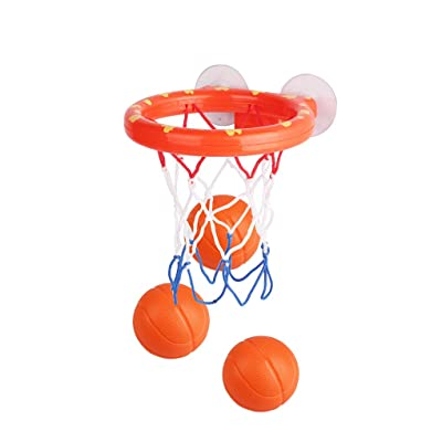 nobrand ebera Mini Suctions Cup Basketball Hoop Bath Baby Bathtub Shooting Game Toy Set Baby Bathtub Shooting Game Toy Kids Shower Basketball: Home & Kitchen
