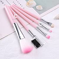 ICYCHEER Pink 5pcs Makeup Brushes Set Powder Foundation Eyeshadow Eyeliner Lip Brush Tool