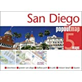 San Diego PopOut Map - handy, pocket size San Diego pop up city map(Popout Maps)
