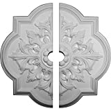 Ekena Millwork CM34BO2-03000 31 1/4''OD x 3''ID x 2''P Bonetti Ceiling Medallion, Fits Canopies up to 7-3/8'', 2 Piece