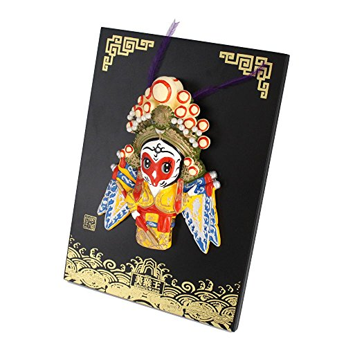 Chinese Opera Mask (iDili Peking Opera Mask on Board Best Gift with Chinese Features for Home and Office Decoration (Monkey King))