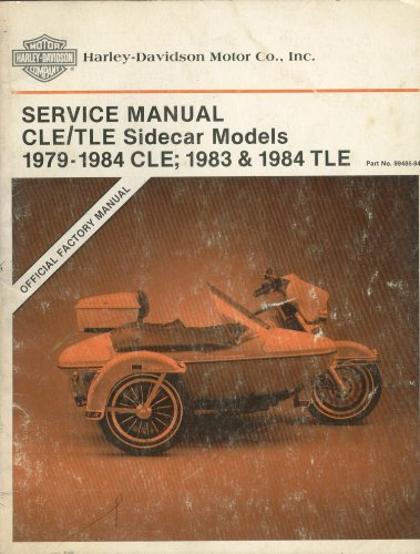 Harley Davidson Sidecar Service Manual 1979-1984 CLE & 1983-1984 TLE (Sidecar Tle)
