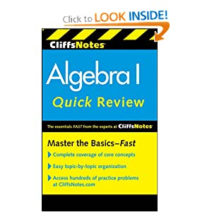 CliffsNotes Algebra I Quick Review (Cliffs Quick Review) Jerry Bobrow Ph.D. and Edward Kohn