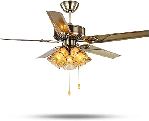 Zyj-Ceiling fan light Lron Ventiladores de Techo Luz Ventiladores ...