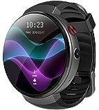 LEMFO LEM7 4G LTE Smartwatch, Android 7.0 2MP Kamera-Uhr-Telefon, MT6737 16GB ROM, eingebauter Übersetzer, Powerbank, Bluetooth / GPS / Pulsmesser (LEM7 Schwarz)