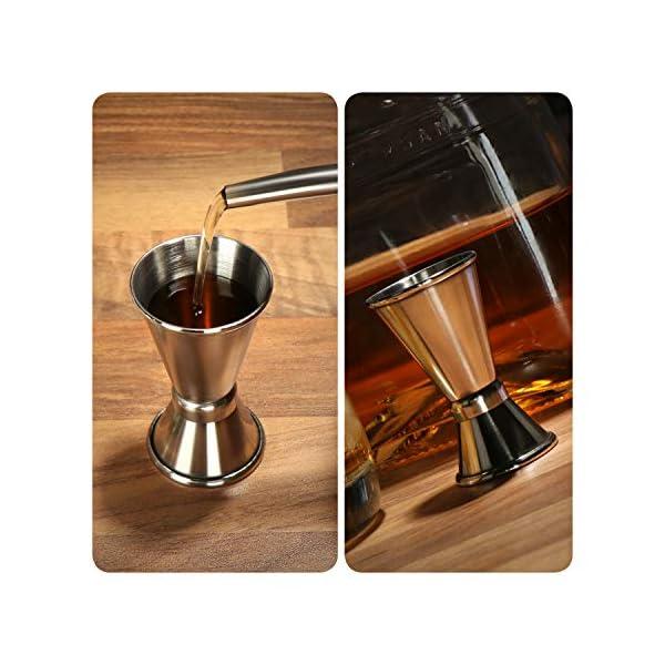 com-four® 2x misurino in acciaio inossidabile - Bar per alcolici e cocktail - Misurino per bar e cucina - Misurazione e dosaggio (Misurino - 02 pezzi) 4 spesavip