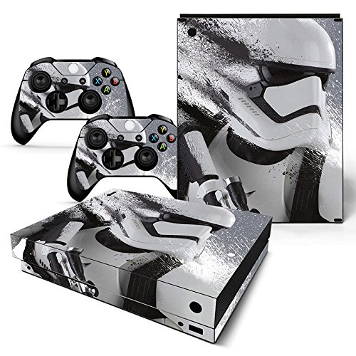 FriendlyTomato Xbox One X Console and Wireless Controller Skin Set - Star Warrior - XboxOne X XOX Sticker Vinyl