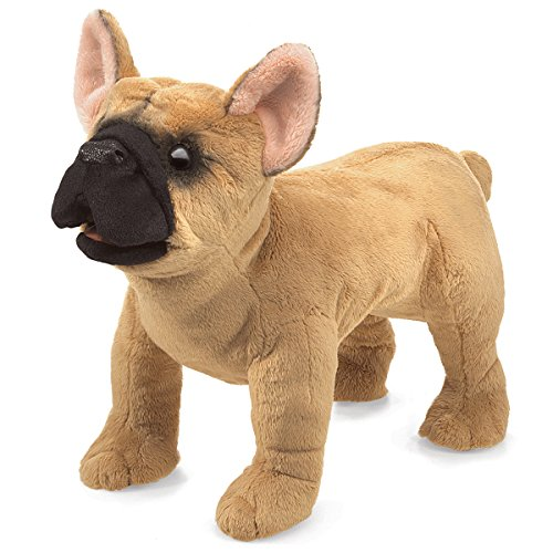 Folkmanis French Bulldog Hand Puppet Plush (Bulldog Animal French Stuffed)