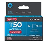 Arrow Fastener 506SS1 3/8'' T50 Stainless Steel Staples