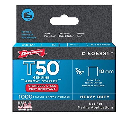 Arrow Fastener 506SS1 3/8'' T50 Stainless Steel Staples