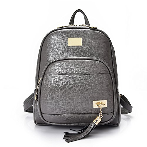Small Leather Backpack Girls Womens Mini School For Grey Backpacks wzU5UHZq