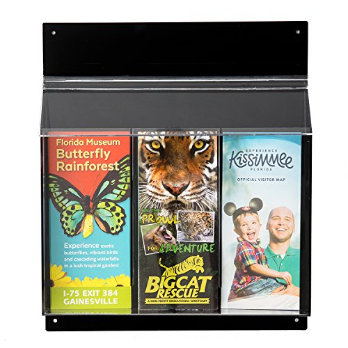 - Source One Acrylic Black Outdoor Trifold Brochure Holder, Multiple Sizes Available (1 Pack, 3 Pocket)