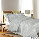 Kathy Ireland Home Essentials 3 Piece Reversible Down Alternative Comforter, Twin, Platinum