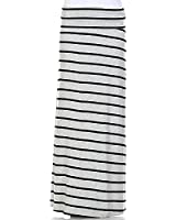 Elain & J Luxury Boutique Full Length Maxi Skirt With Fold Over Waist