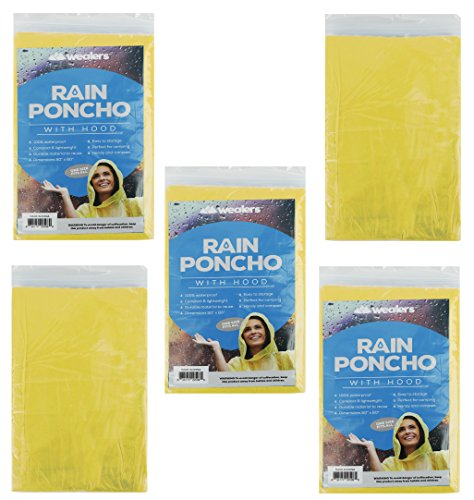 Emergency-Rain-Poncho-with-Hood-Yellow-Color-One-Size-Fits-All-Commuter-Friendly-Rain-Poncho-Survival-Kit-Accessory-for-Travel-Trailblazing-Picnics-Camping-School-Sporting-Corporate-Events
