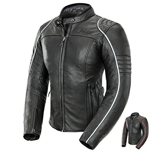 Joe Rocket Women's Lira Leather Jacket (Black/White, Small) ()