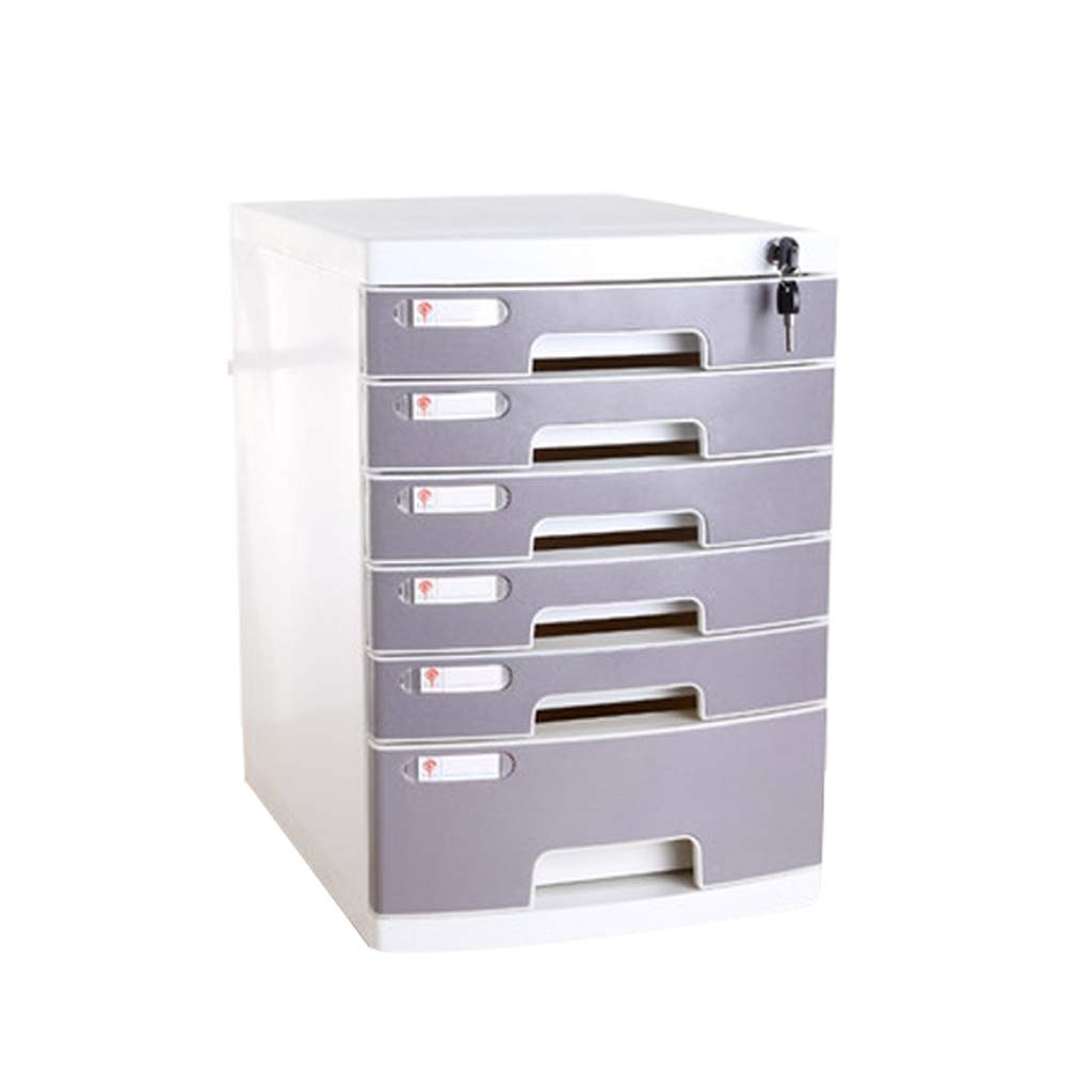 File cabinets LITING A4 Thickened with Lock Drawer File Office Information File Finishing Box Storage Box Storage Cabinet (Color : Gray)