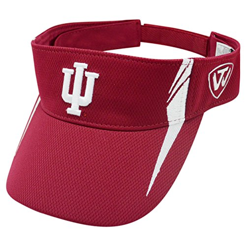 Indiana Hoosiers TOW Crimson Red Range V Adjustable Golf Visor Hat Cap