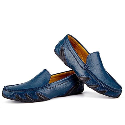 Harvestar homme bleu Mocassins bleu pour 767Ywaf
