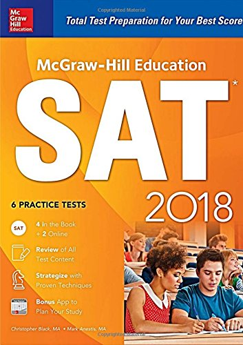 McGraw-Hill Education SAT 2018 cover