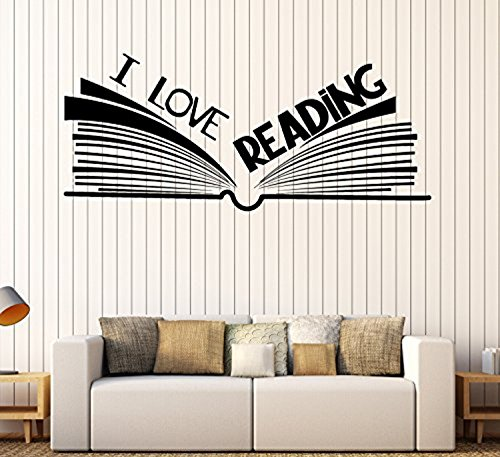 Art of Decals Large Vinyl Wall Decal Book Bookshop Library Reading Room Stickers Large Decor 511