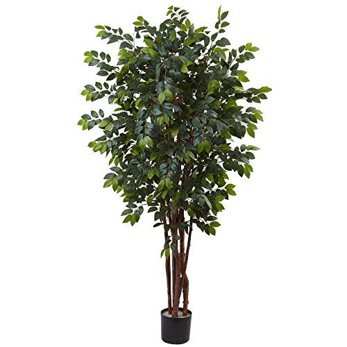 Nearly Natural Sakaki Silk Tree, 7' by Nearly Natural