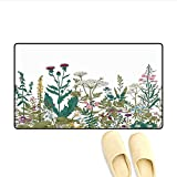 "little honey hydrangea Bath Mat Flowers and Leaves in a Spring Garden with Daisies Roses Hydrangeas Artwork Print Door Mat Indoors Multicolor 24""x36"""