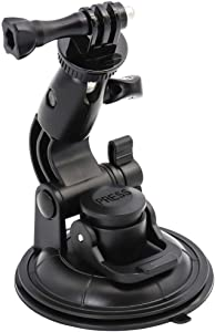 EXSHOW Big Suction Cup Mount with 1/4-20 Adapter for Gopro Hero Session 7 6 5 4 3+ 3 2 1 and Action Camera