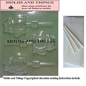 Moldes y cosas de colibrí diseño de oveja y caracol moldes para Chocolate © con moldeado manual de + 25 palos de helado para manualidades: Amazon.es: Hogar