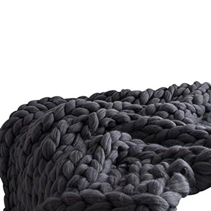 Dark Grey Super Chunky Blanket Chunky Knit Blanket Super Bulky Blanket Cable Knit Throw Chunky Knit Throw Arm Knit Blanket Giant Knit Blanket