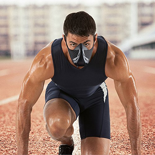 MokenEye Training Mask Elevation Training mask for Running Biking Training and Fitness High Altitude Training Mask Sport Workout Oxygen Mask with 6 Level Air Flow Regulator by MokenEye