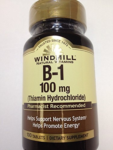 Windmill Vitamin B-1 100 mg Tablets 100 Count (6 Pack)