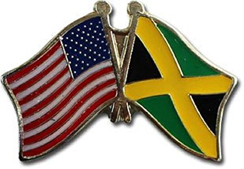 AES Wholesale Pack of 12 USA American & Jamaica Country Flag Bike Hat Cap lapel Pin