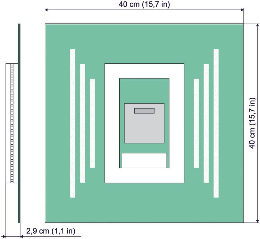 Espejo de ba/ño con iluminaci/ón LED Espejo de Pared Dimensiones del Espejo 40x40 cm Espejo con iluminaci/ón ARTTOR M1CD-02-40x40 Espejo LED Deluxe Interruptor tactil Blanco c/álido 3000K