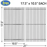 """X Home 7637-17.5"""" Grill Grates Replacement for Weber Spirit 200 Series, Spirit E-210/S-210/E-220/S-220 (2013 & Newer), 304 Stainless Steel Cooking Grids for Weber 7637, Set of 2 - (17.5"""" x 10.5"""" Each)"""