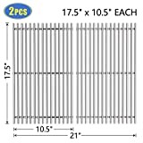 X Home 7637-17.5'' Grill Grates Replacement for Weber Spirit 200 Series, Spirit E-210/S-210/E-220/S-220 (2013 & Newer), 304 Stainless Steel Cooking Grids for Weber 7637, Set of 2 - (17.5'' x 10.5'' Each)