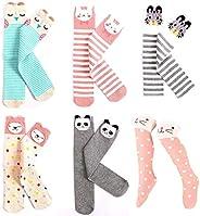 Julianana Kids Knee High Socks 6 Pack Cute Stockings for 3-8 Years Girls