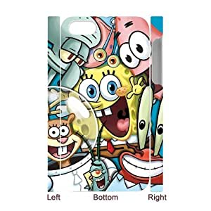 TOSOUL Custom painting SpongeBob Phone 3D Case For Iphone 4/4s [Pattern-2]
