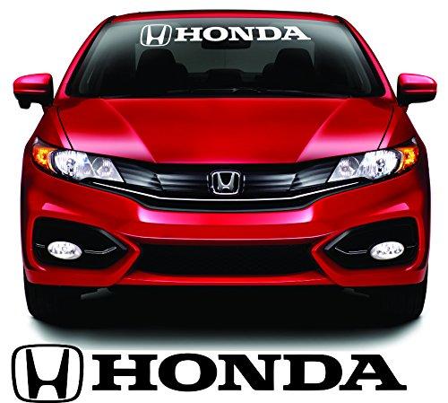 "28"" X 4"" Honda White Windshield Logo Strip Decal"