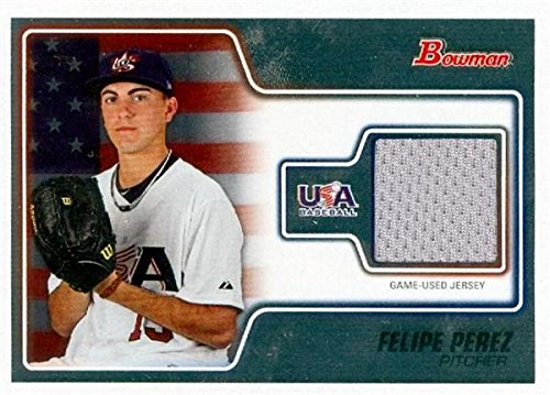 Autograph Warehouse 343435 Felipe Perez Player Worn Jersey Patch Baseball Card - Team USA 2010 Bowman No. USAR-16