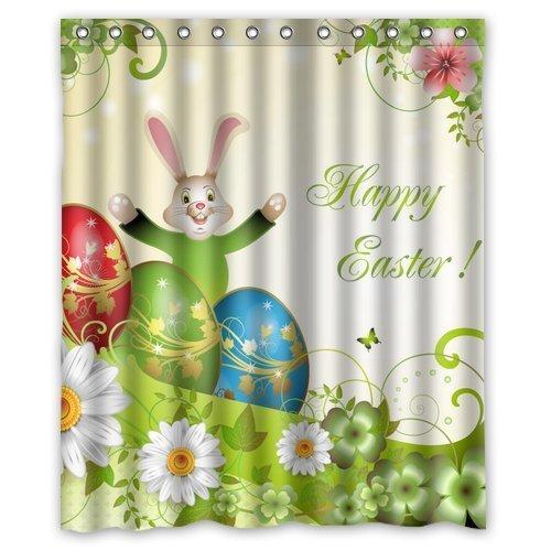 Amazon.com: Welcome!Waterproof Decorative Happy Easter Shower ...