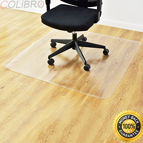 COLIBROX--47'' x 47'' PVC Chair Floor Mat Home Office Protector For Hard Wood Floors New. office chair mat for hardwood floor. best chair mat for hardwood floor amazon. hard floor chair mat. by COLIBROX
