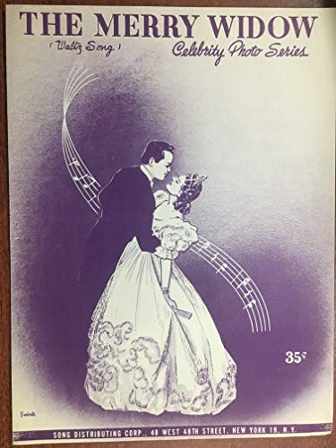 - MERRY WIDOW waltz song (Franz Lehar SHEET MUSIC pristine condition) as performed by DARDANELLE (pictured on back page)