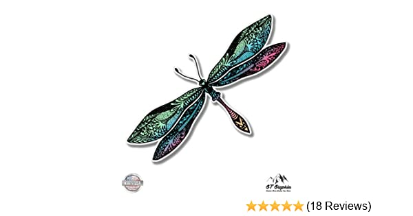 GT Graphics Colorful Dragonfly - Vinyl Sticker Waterproof Decal